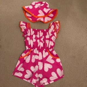 EUC MASALA BABY romper with matching hat